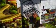 Straatkunst in actie; heel belangrijk onderdeel van dagelijks leven in Valparaíso.